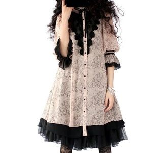 Artka Lolita Perforated Lace Chiffon Retro Blouse